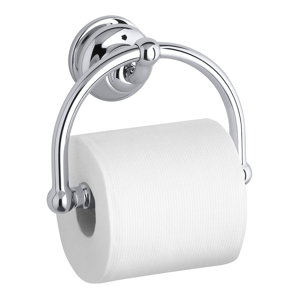 KOHLER Fairfax Wall-Mount Single Post Toilet Paper Holder in Polished Chrome