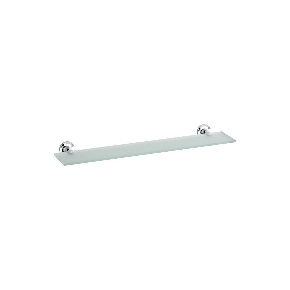 KOHLER Purist 4.88-inch W Wall-Mount Shelf in Glass and Polished Chrome