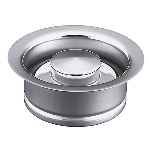 Disposal Flange With Stopper in Polished Chrome