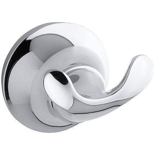 Forté Double Sculpted Robe Hook in Polished Crome