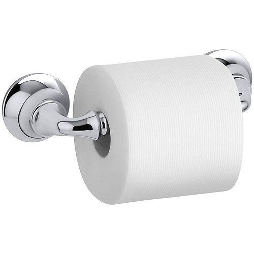 KOHLER Porte-papier de toilette double poste sculpté Forté en chrome poli