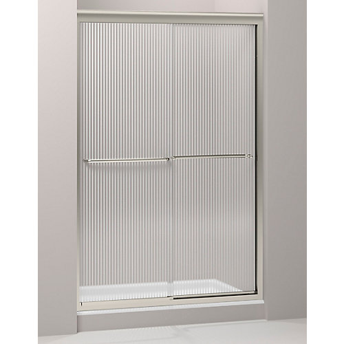Fluence Frameless Bypass Shower Door in Matte Nickel