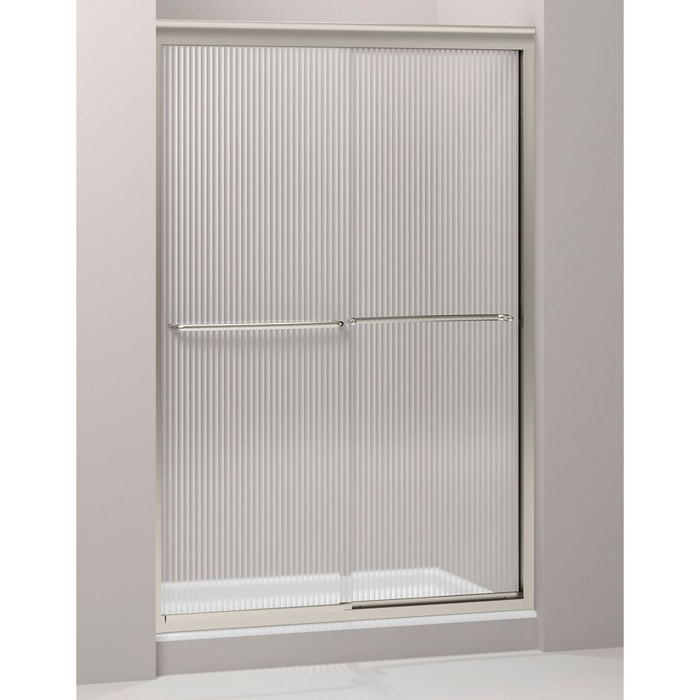 KOHLER Fluence Frameless Bypass Shower Door in Matte Nickel