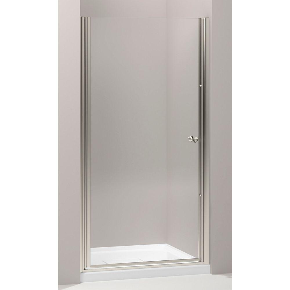 KOHLER Porte de douche pivotante Fluence, 65 1/2 x 28 3/4 - 30 1/4 po, avec verre Crystal Clear de 1/4 po d'epaisseur