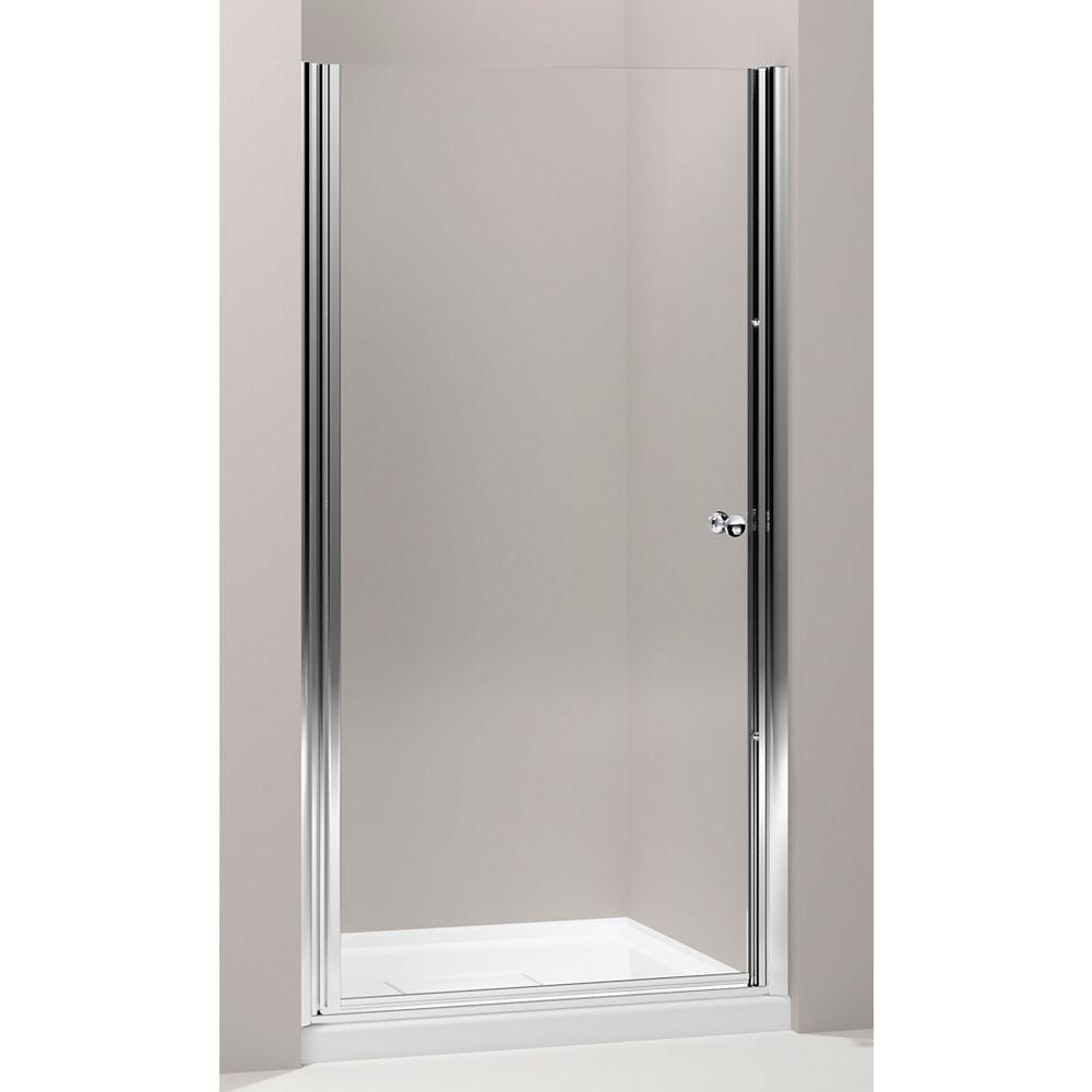 KOHLER Fluence Frameless Pivot Shower Door in Bright Silver