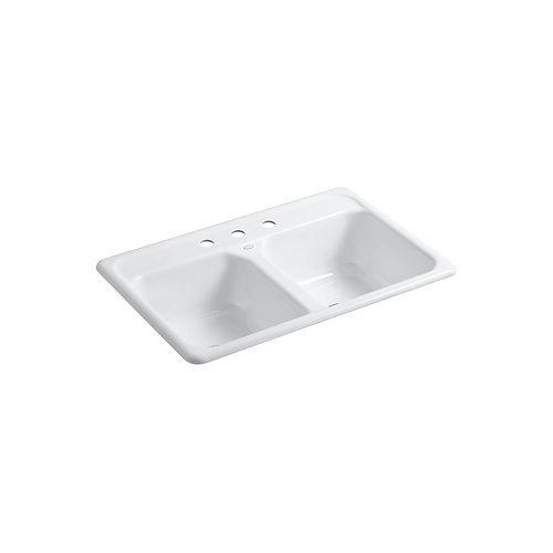 KOHLER Delafield Self-Rimming Kitchen Sink in White