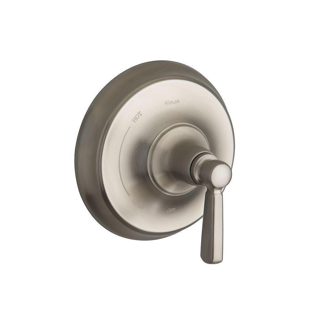 KOHLER Bancroft Rite-Temp Pressure-Balancing Valve Trim, Valve Not Included in Vibrant Brushed Nickel