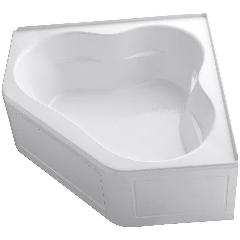 "KOHLER Tercet(R) 60"" x 60"" bath with integral apron and integral flange and center drain"