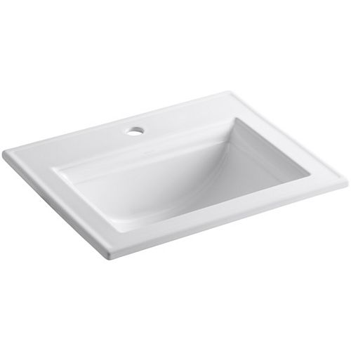 Memoirs Stately Drop-In Vitreous China Bathroom Sink with Single Faucet Hole in White