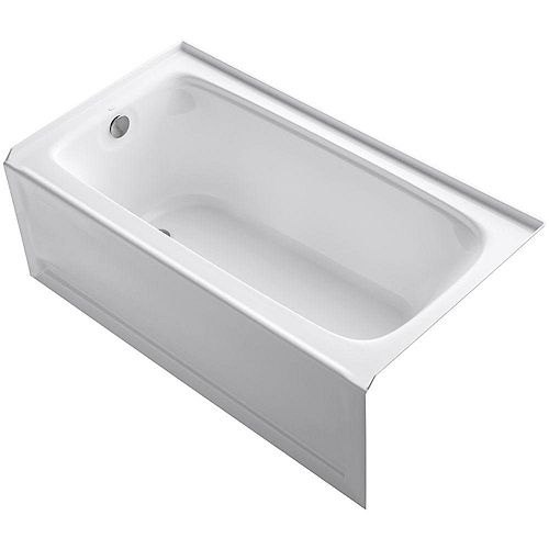 KOHLER Bancroft 60-inch Left-Hand Drain Rectangular Alcove Bathtub in White
