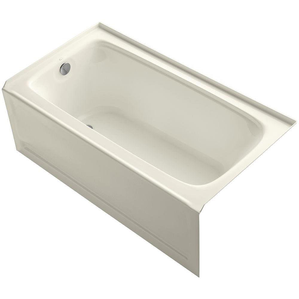 "KOHLER Bancroft(R) 60"" x 32"" alcove bath with integral apron, integral flange and left-hand drain"