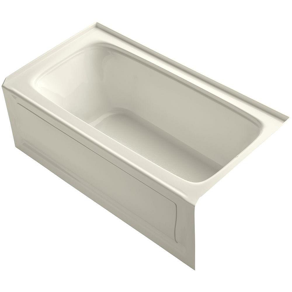 """KOHLER Bancroft(R) 60"""" x 32"""" alcove bath with integral apron, integral flange and right-hand drain"""