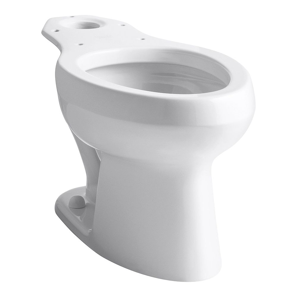 KOHLER Wellworth Elongated Bowl Toilet Bowl Only in White