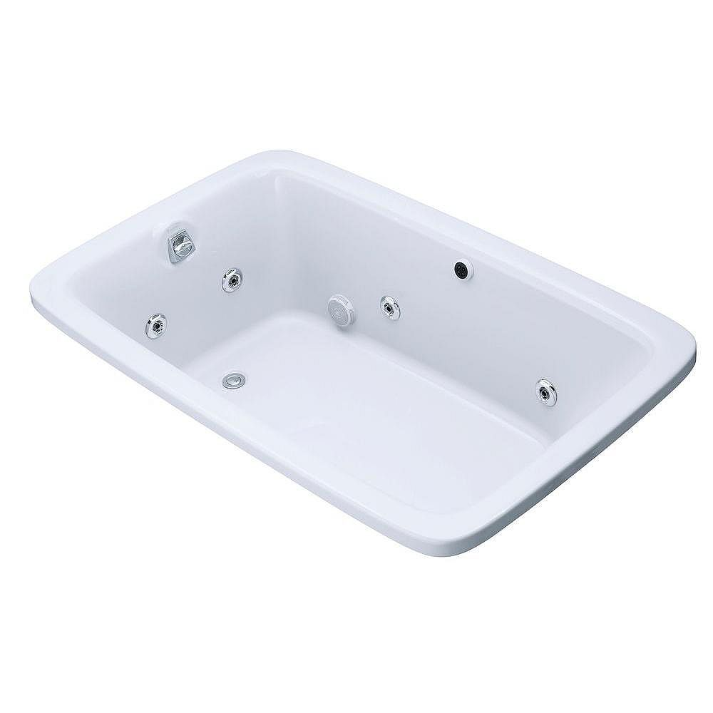 """KOHLER Bancroft(R) 66"""" x 42"""" drop-in whirlpool with heater without jet trim"""
