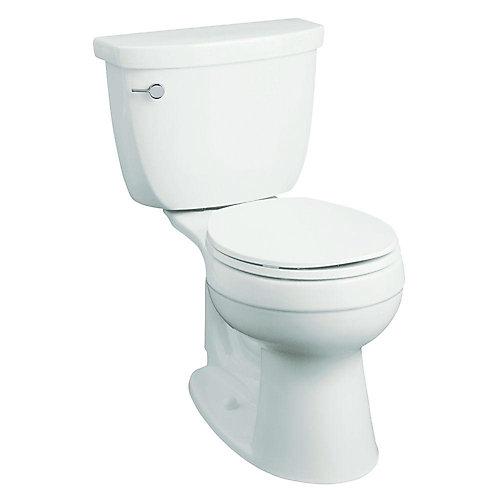Cimarron Comfort Height Single Flush Round Front Bowl Toilet in White