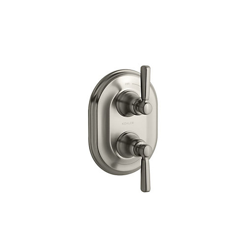 Bancroft Stacked Thermostatic Trim, Valve Not Included in Vibrant Brushed Nickel