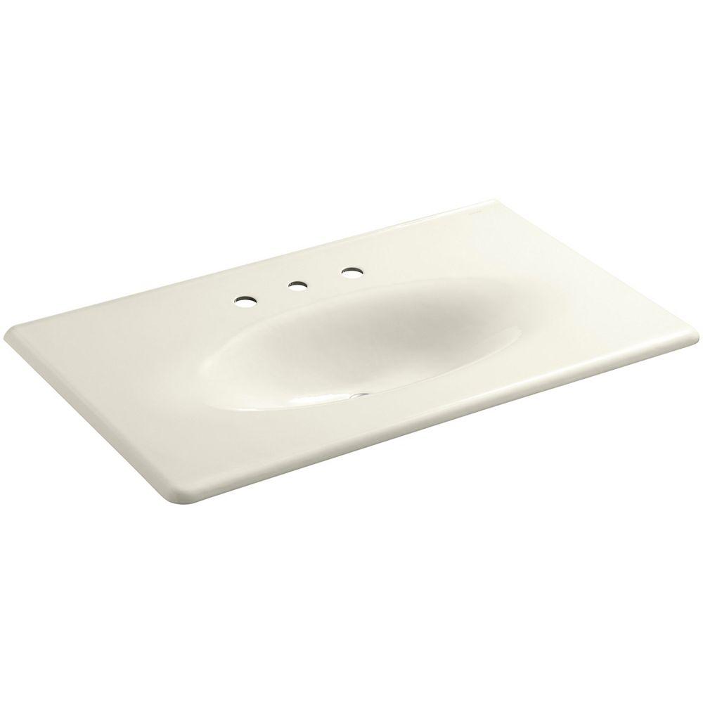 KOHLER Lavabo de meuble-lavabo Iron/Impressions, 37 po, avec trous pour robinet deploye de 8 po