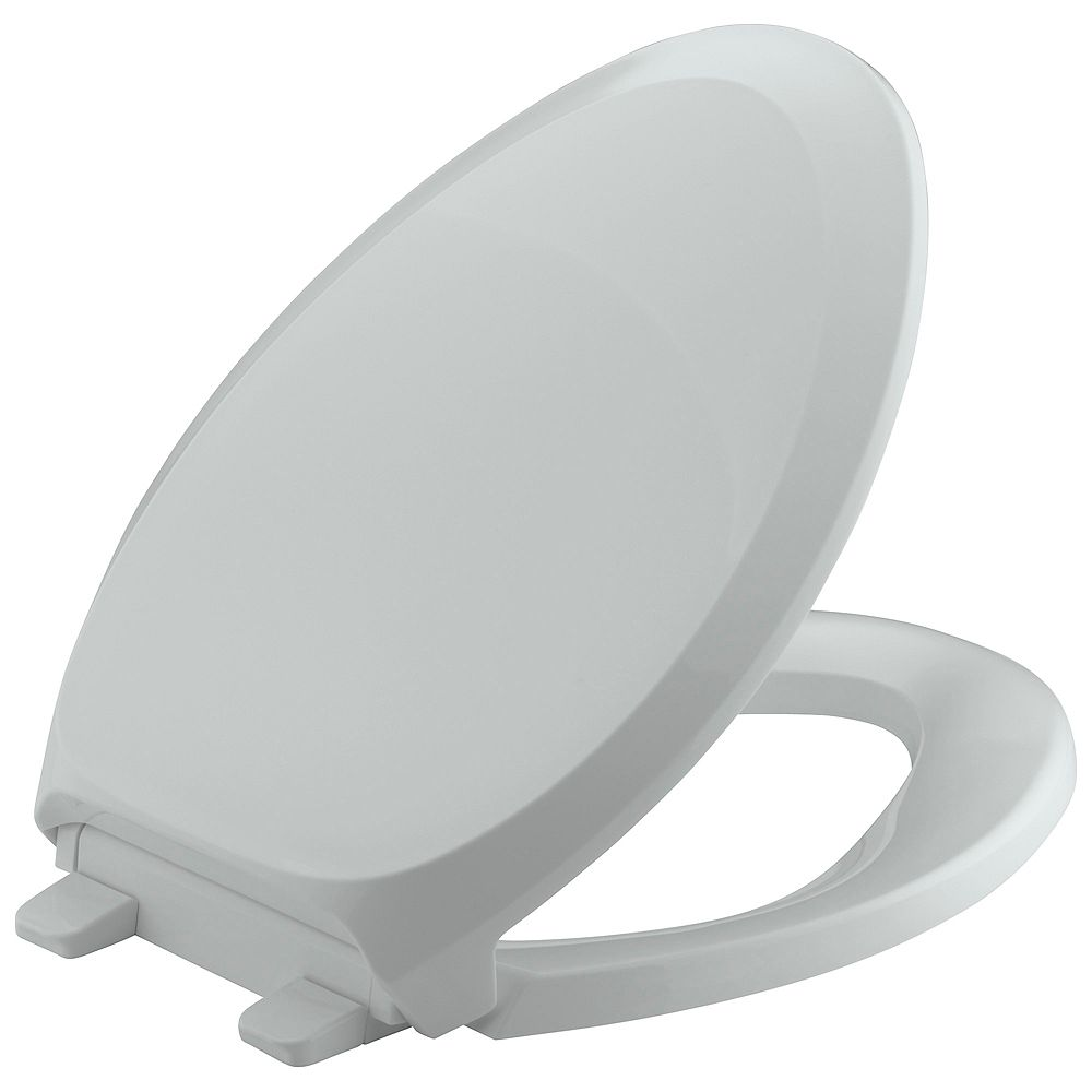 KOHLER French Curve Quiet Close Elongated Toilet Seat in Ice Grey