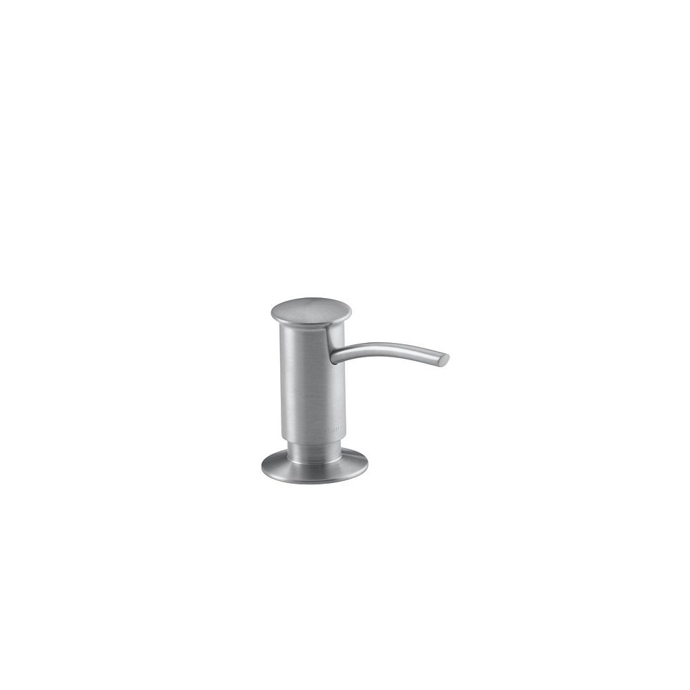 KOHLER Soap/Lotion Dispenser With Contemporary Design (Clam Shell Packed) in Brushed Chrome