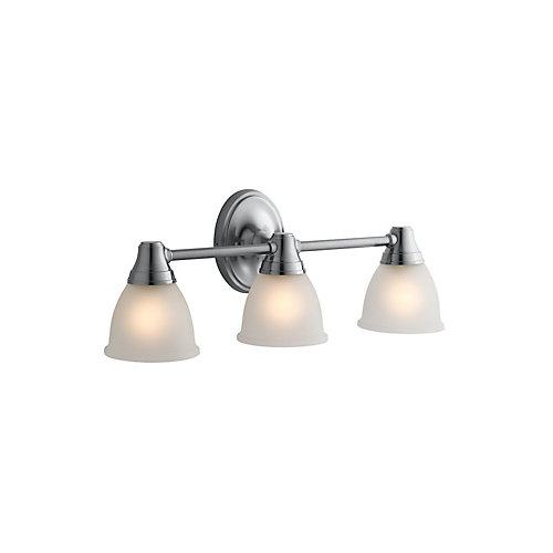 Transitional Triple Light Sconce For Forté(R) Faucet Line in Brushed Chrome