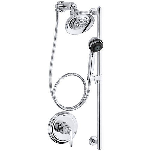 Devonshire Essentials Performance Shower Faucet and Showerhead in Polished Chrome