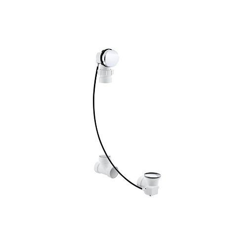 KOHLER Clearflo Cable Bath Drain, Less Pvc Tubing in Polished Chrome