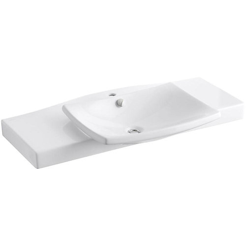 Escale 39 3/4-Inch L x 20 5/16-Inch H Vanity Top in White