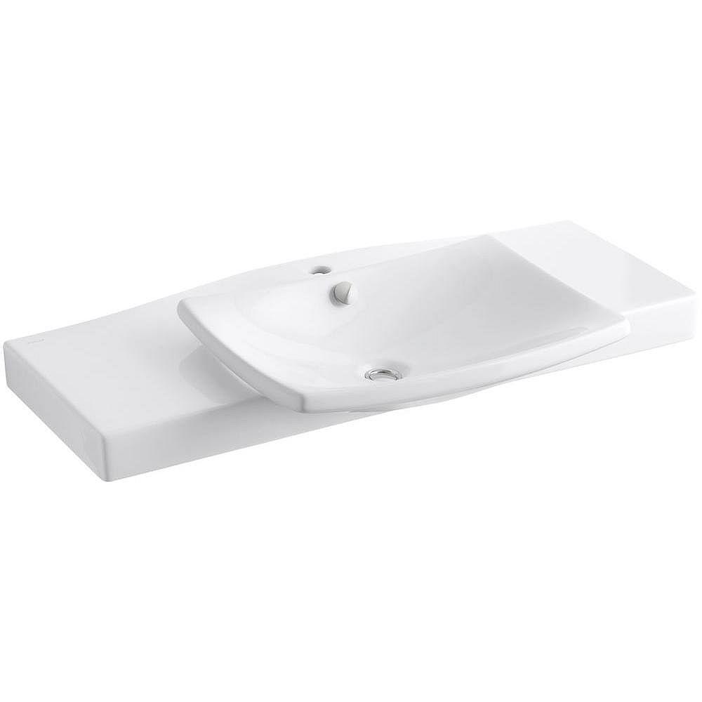 KOHLER Escale 39 3/4-Inch L x 20 5/16-Inch H Vanity Top in White