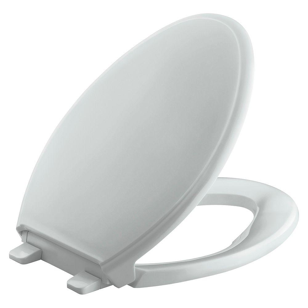 KOHLER Glenbury Quiet-Close Elongated Toilet Seat in Ice Grey