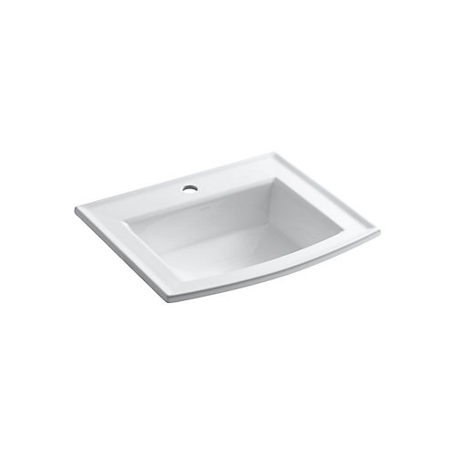 Archer(R) drop-in bathroom sink with single faucet hole