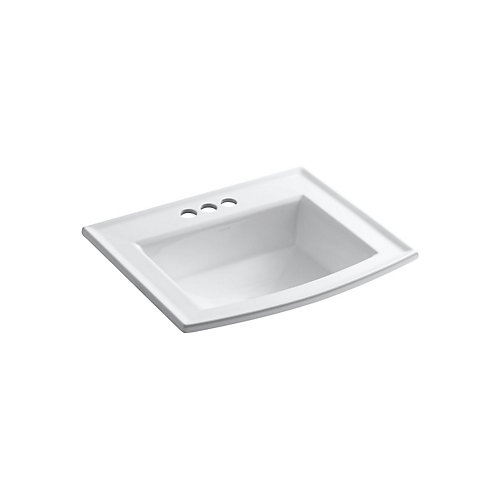 Archer(R) drop-in bathroom sink with 4 inch centerset faucet holes
