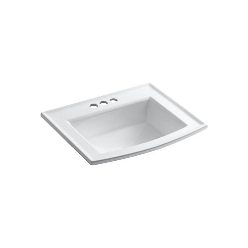 KOHLER Archer Drop-In Vitreous China Bathroom Sink with Overflow Drain in White
