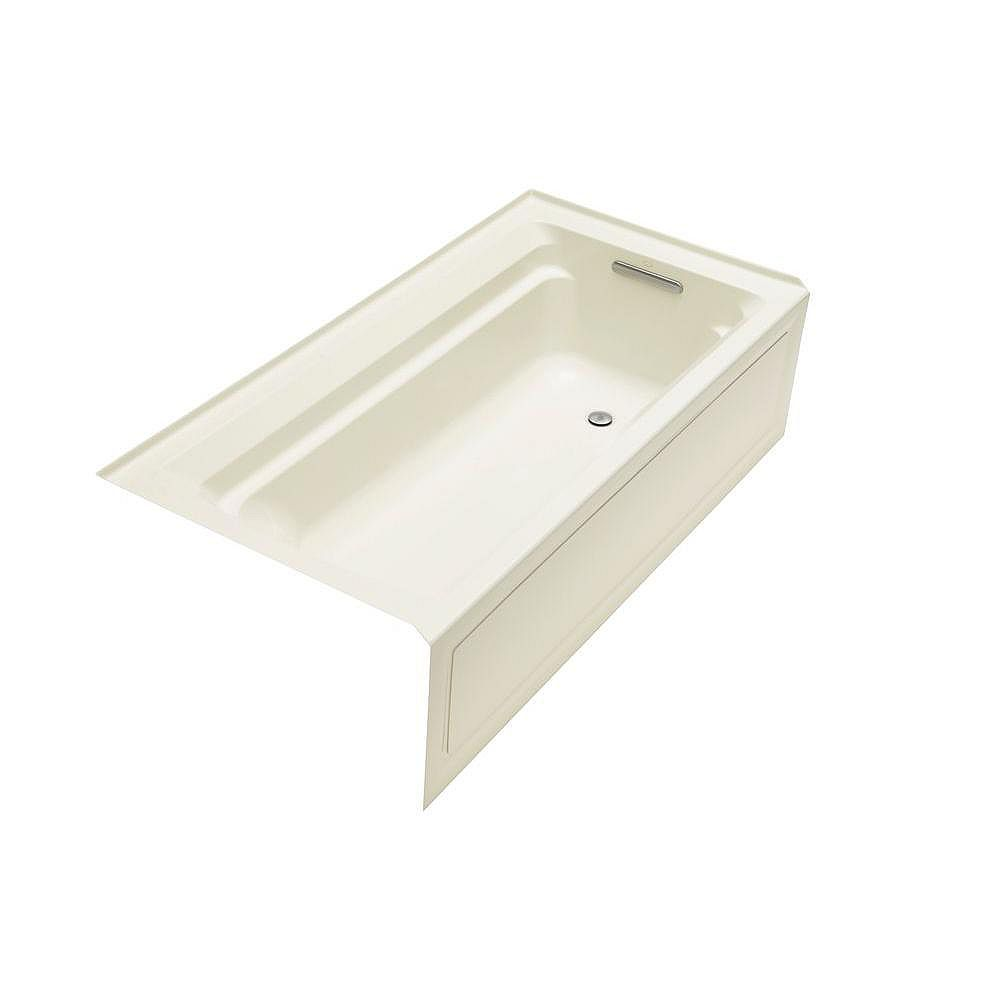 """KOHLER Archer(R) 72"""" x 36"""" alcove bath with integral apron and right-hand drain"""
