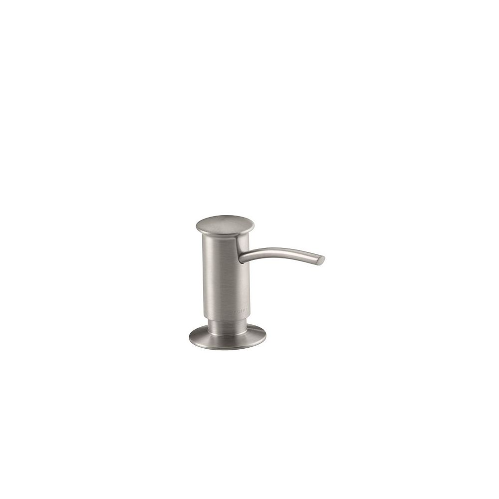 KOHLER Single-Hole Soap/Lotion Dispenser with Contemporary Design in Vibrant Stainless