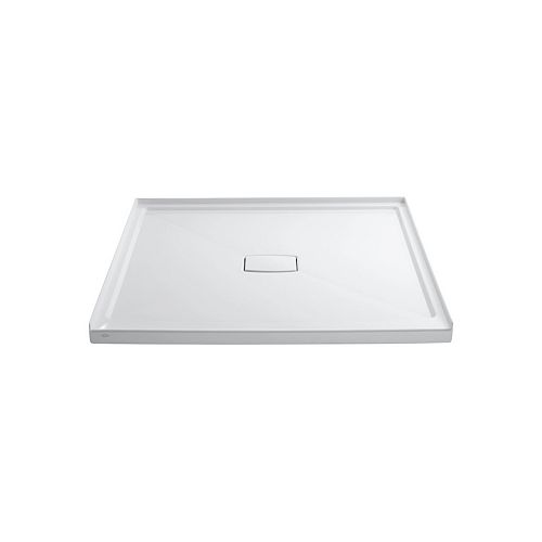 Archer 60-inch x 60-inch Single Threshold Shower Base with Center Drain in White
