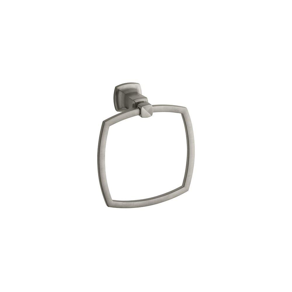 KOHLER Margaux Towel Ring in Vibrant Brushed Nickel
