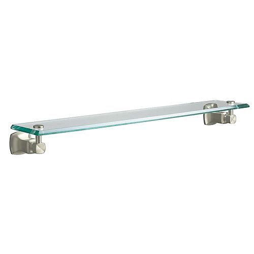 Margaux Glass Shelf in Vibrant Brushed Nickel