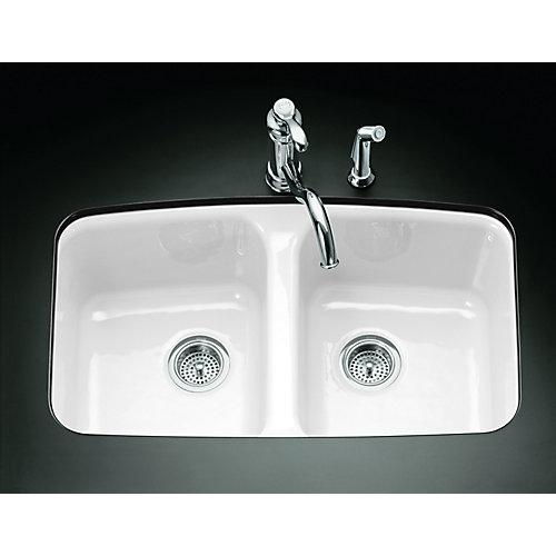 Brookfield(Tm) Undercounter Kitchen Sink in White