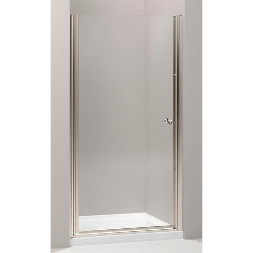 Fluence Frameless Pivot Shower Door in Anodized Brushed Bronze