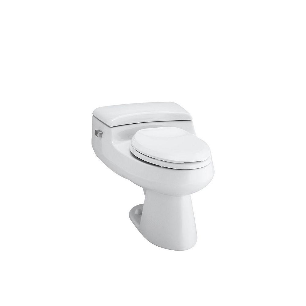 KOHLER Toilette monopièce allongée San Raphael Comfort Height, 1,0 gal/chasse, avec technologie de chasse deau Pressure Lite, siège inclus