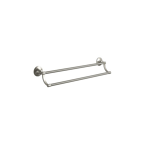 Archer Double Towel Bar in Vibrant Brushed Nickel