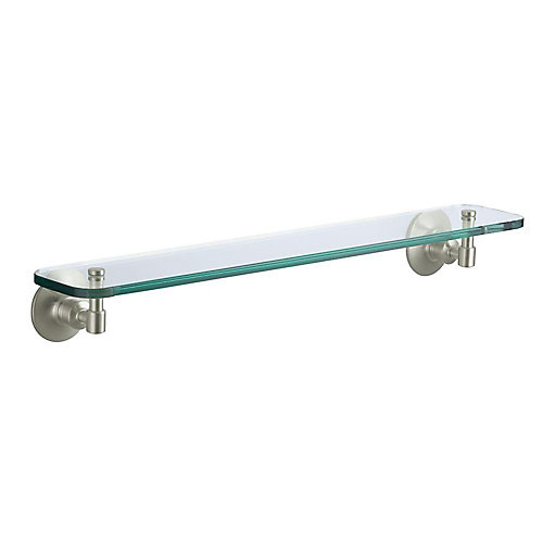 Archer Glass Shelf in Vibrant Brushed Nickel