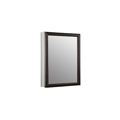 20-inch x 26 in H. Recessed or Surface Mount Mirrored Medicine Cabinet in Oil Rubbed Bronze