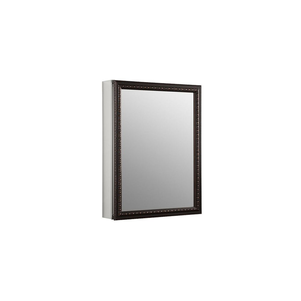 KOHLER 20-inch x 26 in H. Recessed or Surface Mount Mirrored Medicine Cabinet in Oil Rubbed Bronze