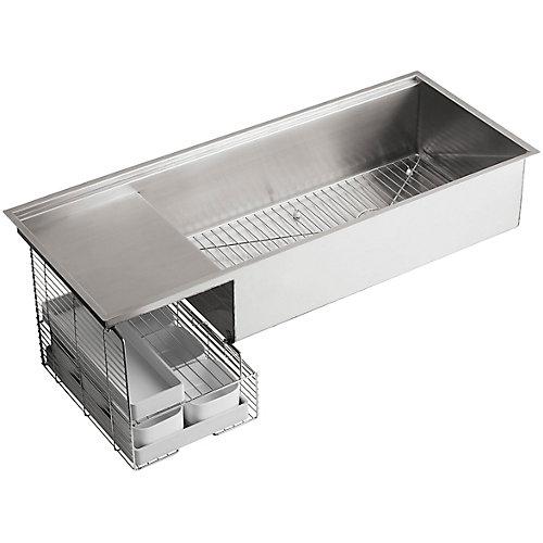 Stages(Tm) 45 Inch Stainless Steel Kitchen Sink