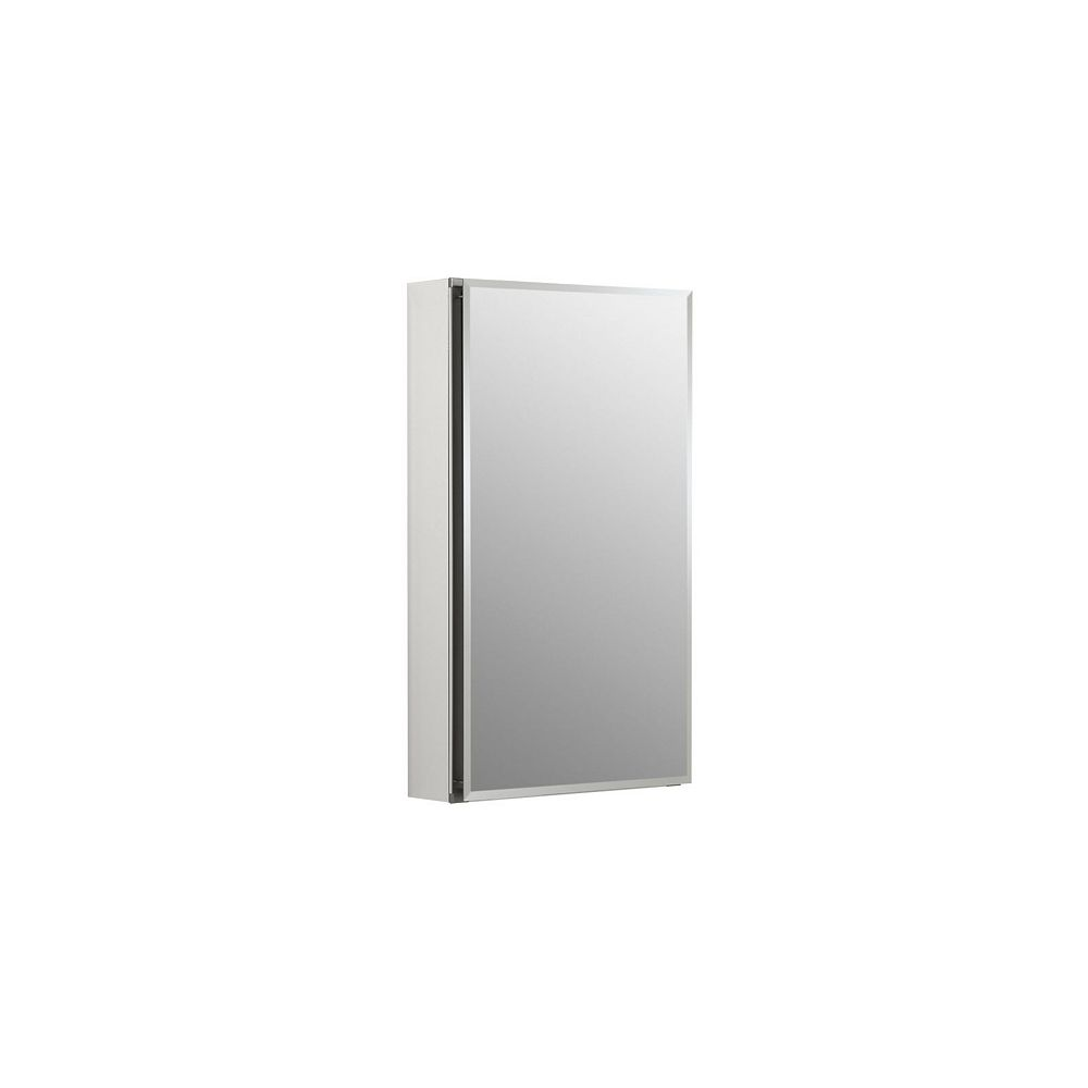 KOHLER 15-inch W x 26-inch H Single Door Recessed or Surface Mount Medicine Cabinet in Anodized Aluminum