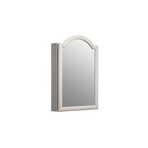 Single Door 20 Inch x 29-1/2 Inch x 5-1/4 Inch White Enameled Aluminum Cabinet