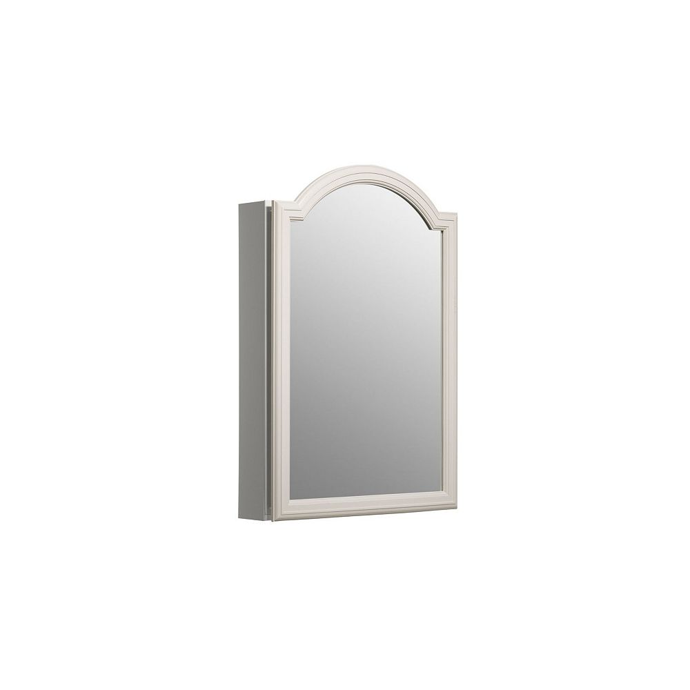 KOHLER Single Door 20 Inch x 29-1/2 Inch x 5-1/4 Inch White Enameled Aluminum Cabinet