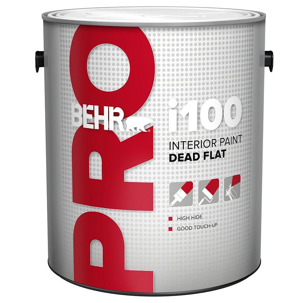Behr Pro i100 Series, Interior Paint Dead Flat - White Base, 3.79 L