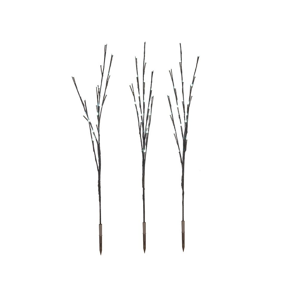 Home Accents LED-Lit White Twig Tree Christmas Decoration (Set of 3)